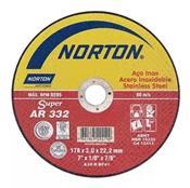 """Disco de Corte 7"""" AR 332 Inox Norton 3430.10010"""