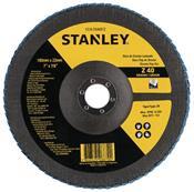 "Disco Flap de Fibra 7"" GR 40 Stanley 3455.51010"