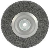 """Escova De Aço Circular 6""""x1"""" Fio 0,25 6000RPM 3610.15005"""