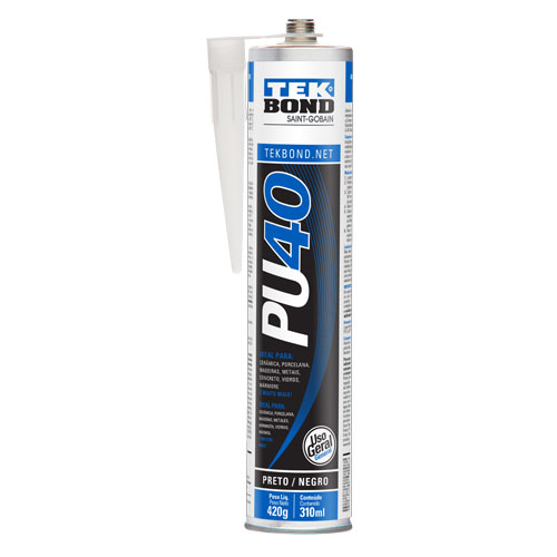 Silicone de Poliuretano PU40 Preto 420g Tekbond 8805.10120