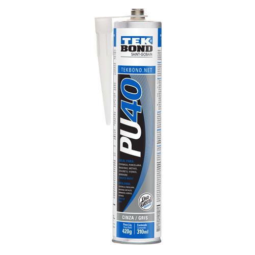 Silicone de Poliuretano PU40 Cinza 420g Tekbond 8805.10110