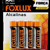 Pilha Alcalina AA Foxlux - Cartela 4 pçs 5260.60040