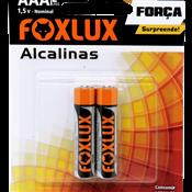 Pilha Alcalina AAA Palito Foxlux - Cartela 2 peças 5260.60010