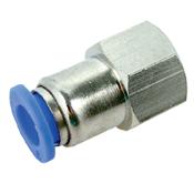 """Conector Pneumático 6mm com Rosca Interna 1/4"""" BSP 3130.10010"""