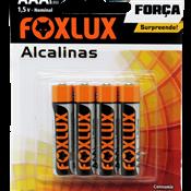 Pilha Alcalina AAA Palito Foxlux - Cartela 4 peças 5260.60020