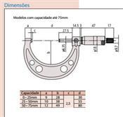 Micrômetro Externo 50-75mm 103-139-10 Mitutoyo 6410.05015