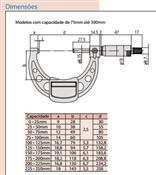 Micrômetro Externo 75-100mm 103-140-10 Mitutoyo 6410.05020